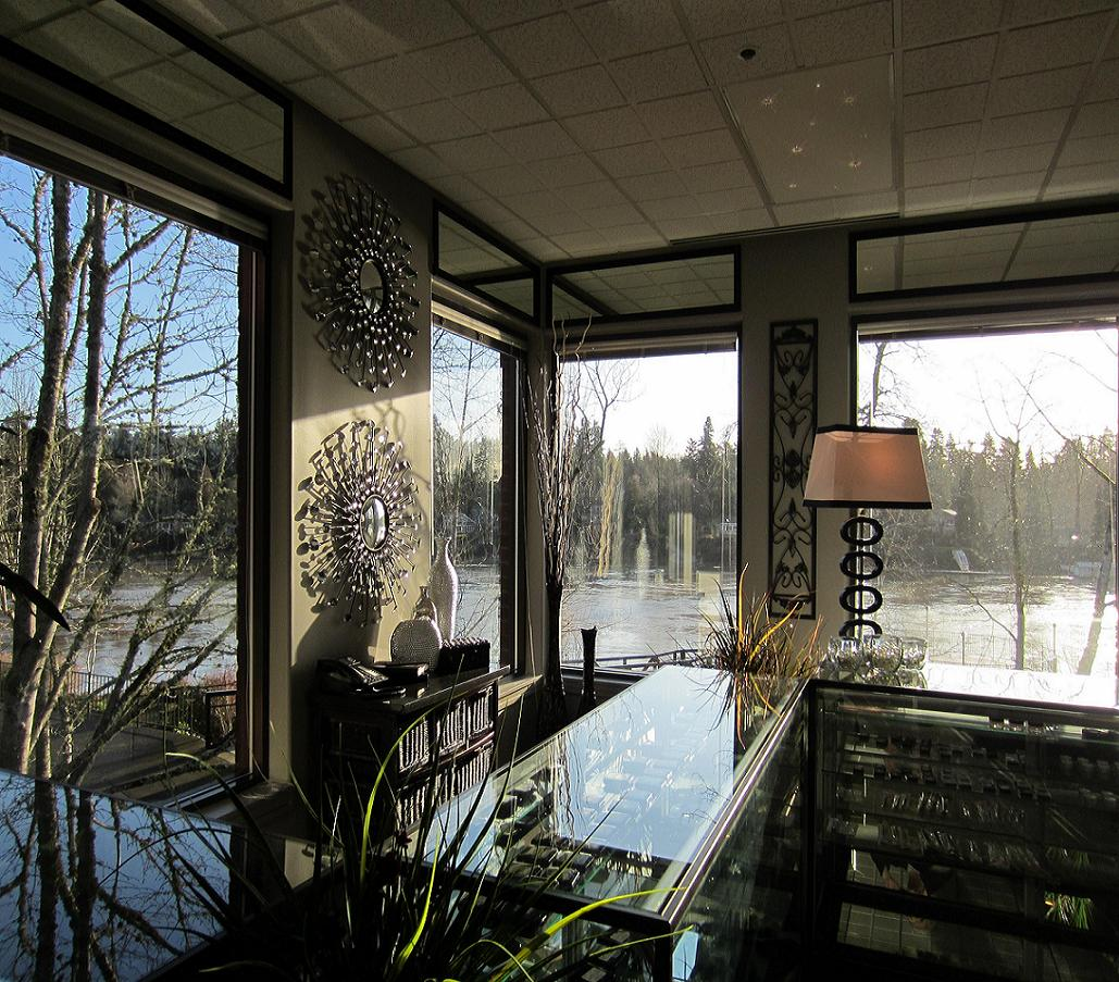 New Location 2012 - natural lighting for cosmetic applications and selection, Willamette Riverfront Views