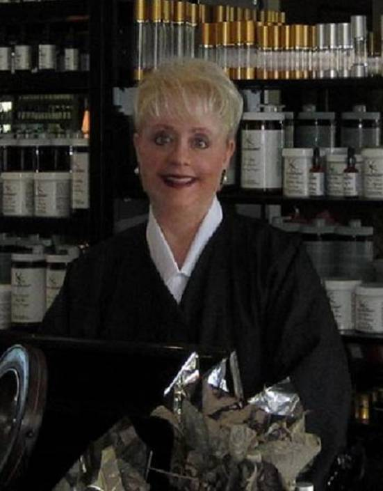 Karen, Owner of Karamar Skincare - by custom blend skincare area, 2012